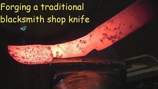 Blacksmithing/Forging A Traditional Blacksmiths Knife