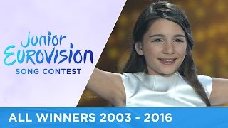 All winners of the Junior Eurovision Song Contest (2003-2016)