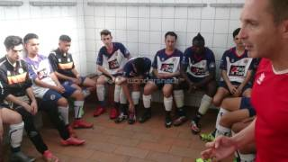 charla motivadora antes de un partido juvenil futbol base(españa)barcelona