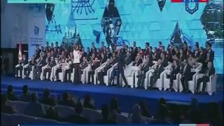 تكريم عدد من المشاركين في مؤتمر #مصر_تستطيع خلال الجلسة الختامية