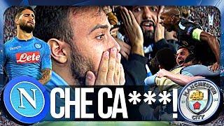 NAPOLI 2-4 MANCHESTER CITY | CHE CA***!!! LIVE REACTION GOL CURVA B HD
