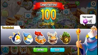 Dragon City - Reach Level 100 [Congratulation from Deus]