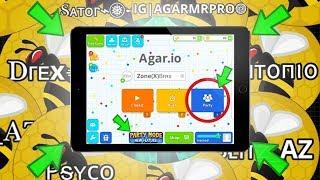 AGARIO MOBILE PARTY MODE UPDATE!! + TAKEOVER FRVR CLAN (Agar.io Mobile)