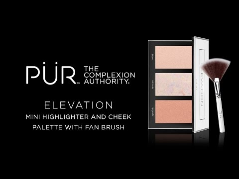 Elevation Mini Highlighter & Cheek Palette with Fan Brush
