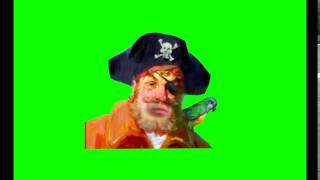Spongebob Green Screen - Pirate (without background)