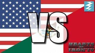USA Vs Mexico Ep12 - Hearts of Iron 4 (HOI4)