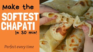 PERFECT SOFT, LAYERED CHAPATI the easy way!
