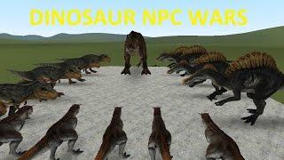 GMOD FIGHTS: DINOSAUR ISLAND NPC WAR