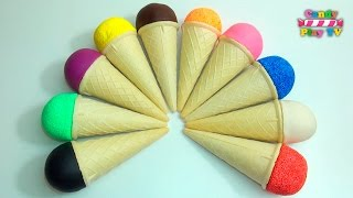 Play-Doh Ice Cream Cone | Learn Colours with Squishy Glitter Foam | Learn Colors With Glitter Putty