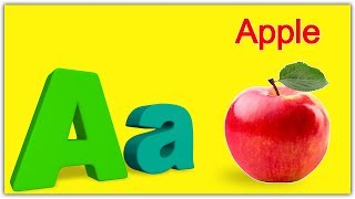 A For Apple | ABC Song | Nursery Rhymes | Poems For Kids