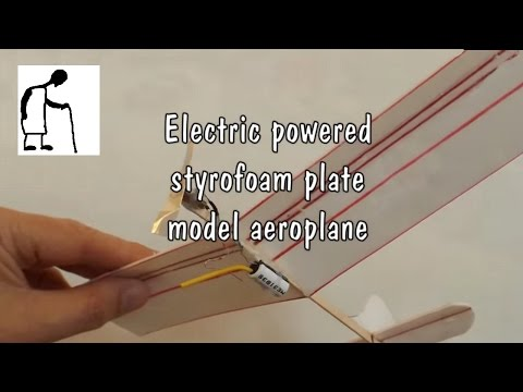 Electric Powered Styrofoam Plate Airplane