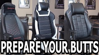 Gaming Chair Comparison - DX Racer vs. Vertagear vs. Noblechairs!