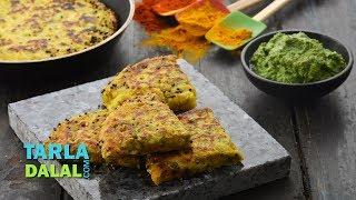 Mixed Vegetable Handvo Recipe, Instant Handvo Recipe by Tarla Dalal