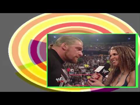 Stephanie Mcmahon Kiss Triple H & Reveals She is Pregnant With Triple H Baby Before Marriage HQ