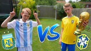 Messi VS Neymar Jr WORLD CUP FOOTBALL CHALLENGES! Brazil VS Argentina