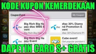 KODE KUPON KEMERDEKAAN DAPAT CARD S+ | GET RICH