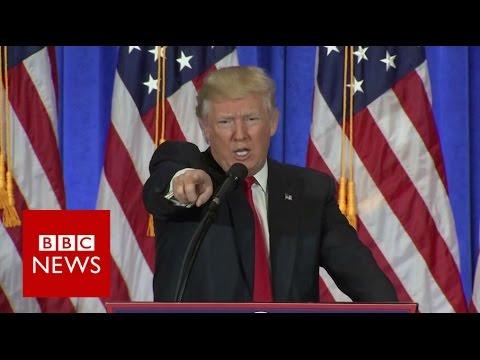 watch Donald Trump shuts down CNN reporter - BBC News