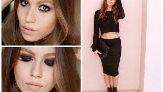 Siyah Dumanlı Koyu Göz Makyajı + Kıyafet