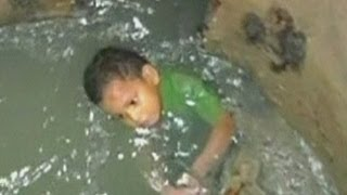 Toddler rescued from Colombian sewers