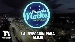 Yanine, de las Hermanitas Calle le aplica una inyección a Alejo Lopera    | Llegó la Noche