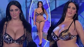 Italian model in lingerie with nice big boobs