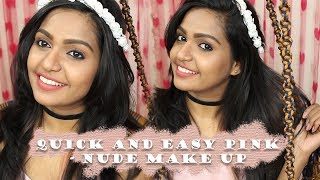 Quick and easy pink-nude make up for dusky Indian skin tone