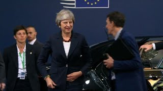 EU leaders and May in Brussels for a Brexit summit