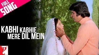 Kabhi Kabhie Mere Dil Mein - Male - Full Song - Kabhi Kabhie | Amitabh Bachchan | Rakhee
