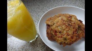 Saltfish Fritters And Mango Lemondade