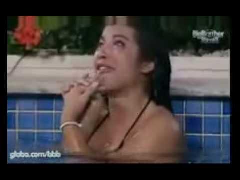 BBB 9 Priscila chora e fala sozinha na piscina Parte 1