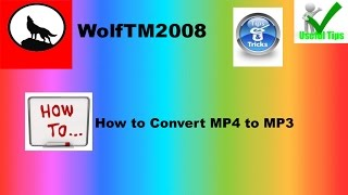 How to convert MP4 Music to MP3 Music EASY WAY