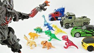 디셉티콘이 공룡메카드 타이니소어를 데려가요!! 구해줘요 트랜스포머!! [소닉토이]