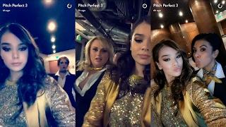 Pitch Perfect 3 ► Snapchat Story ◄ 16 February 2017 [ Hailee Steinfeld,Anna Kendrick&Rebel Wilson]
