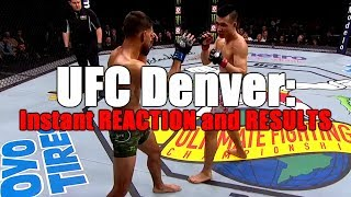UFC Fight Night Denver: Reaction and Results