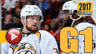 Nashville Predators vs Anaheim Ducks. NHL 2017 Playoffs. Western Conference Final. Game 1. (HD)