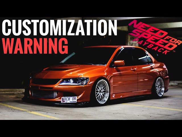 Need For Speed Payback CUSTOMIZATION WARNING