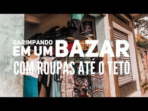 Garimpando em um Bazar com ROUPAS ATÉ O TETO!   Trashy Fame