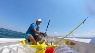 With a small boat in the Burgas bay / С малка лодка в Бургаския залив