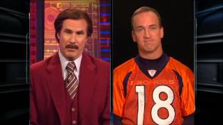 ESPN: Ron Burgundy Interviews Peyton Manning