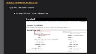 Locate Serial Number and Product Key for AutoCAD 2014