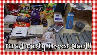 Graduation Party Plans & Haul~Party Planning~Party Decor Haul~How to~Noreen's