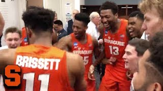 Syracuse Goes Crazy In Locker Room After Advancing To Sweet 16