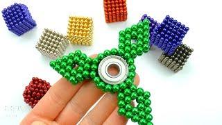 DIY Cómo hacer Spinner Magnético Fidget Colores y Jugar con Neocube Imanes de Neodimio