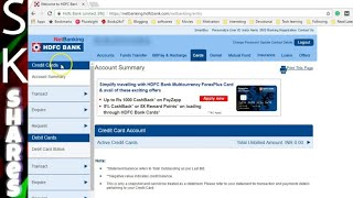 How to View or Download Credit Card statement - HDFC 2017