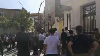 Iran, Manifestation de la population de Javanroud contre les coupures du courant électrique