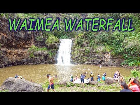 Waimea Waterfall, Oahu ,Hawaii - 2016 4K