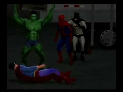 Spider Man & Hulk vs. Batman & Superman CAWS