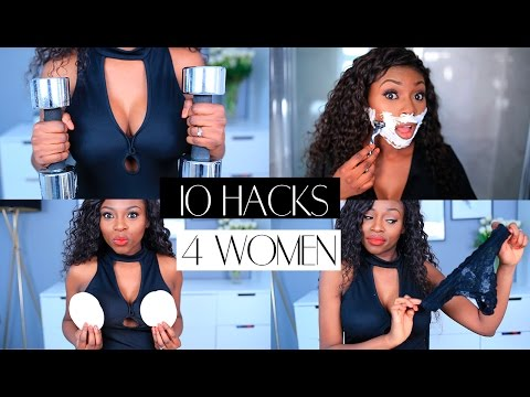 10 HACKS EVERY WOMAN SHOULD KNOW  AIRY VAGINA, BOOB PUMP, POWER POSING & MORE