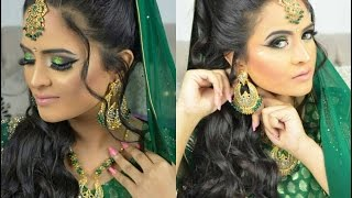 BRIDAL MAKE-UP|GREEN EYES| MODEL|INDIAN,PAKISTANI & BANGLADESHI