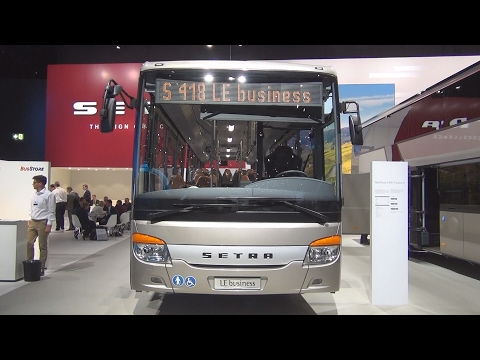 Setra MultiClass S 418 LE Business Bus Exterior and Interior in 3D